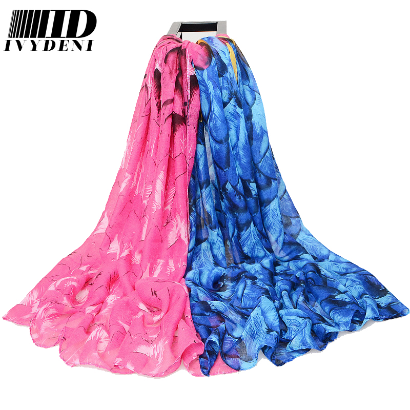 180*110cm Peacock Print Long Voile Scarf Shawl Fashion Luxury scarf women 2016 Large Cotton Head Scarves Summer Pareo Body Warp(China (Mainland))