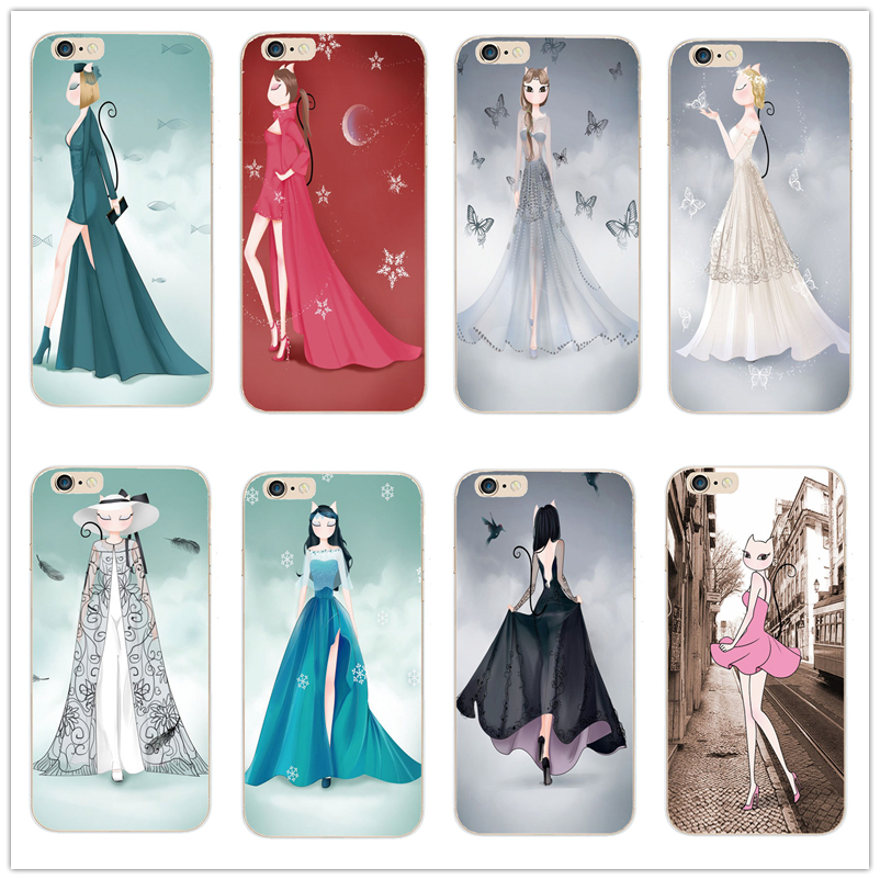 phone case cover For Apple iPhone 4 4S 5 5S 5C SE 6 6S 6Plus 6SPlus fashion show fashion sexy miss Kitty lovely cat pattern case(China (Mainland))