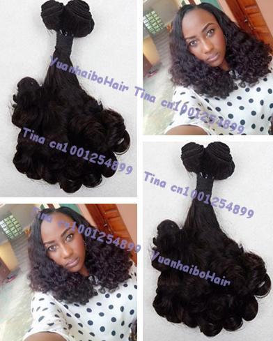 Grade 6A quality 3pcs/lot #1b bouncy curl tips virgin brazilian funmi hair weaving for nigeria free shipping<br><br>Aliexpress