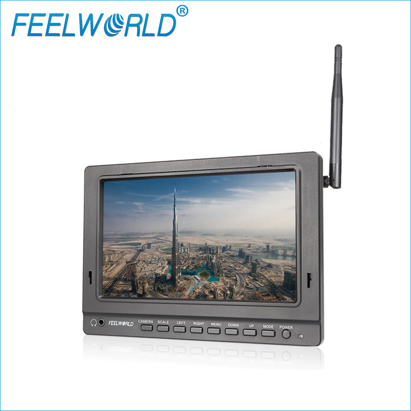 FPV758 7 Inch FPV Monitor With Dual 5.8G 32CH Diversity Receiver Feelworld Drone Wireless Monitor 1024x600 IPS Monitors(China (Mainland))