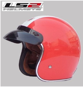 Free shipping LS2 OF583 Prince retro helmet helmet motorcycle helmet/Green, red and white