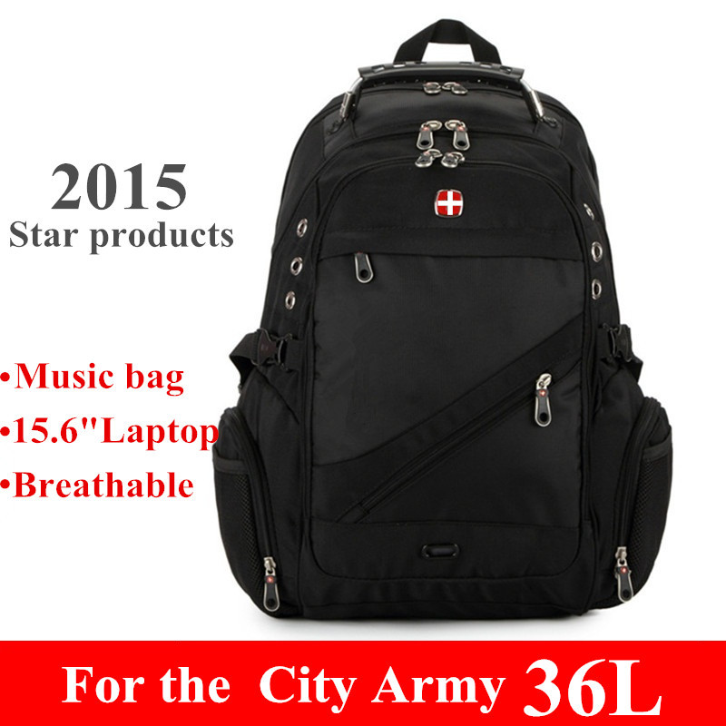 Quality swiss backpack laptop man woman travel computer large rucksack red sports bag school student daypack waterproof USA(China (Mainland))