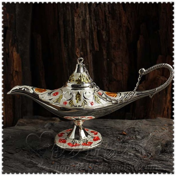 Handicrafts gift gift box decorated Russian color tin lamp enamel painted Aladdin lamp(China (Mainland))