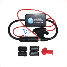 25dB Car FM Radio Antenna Amplifier Booster with Indicator Free Shipping