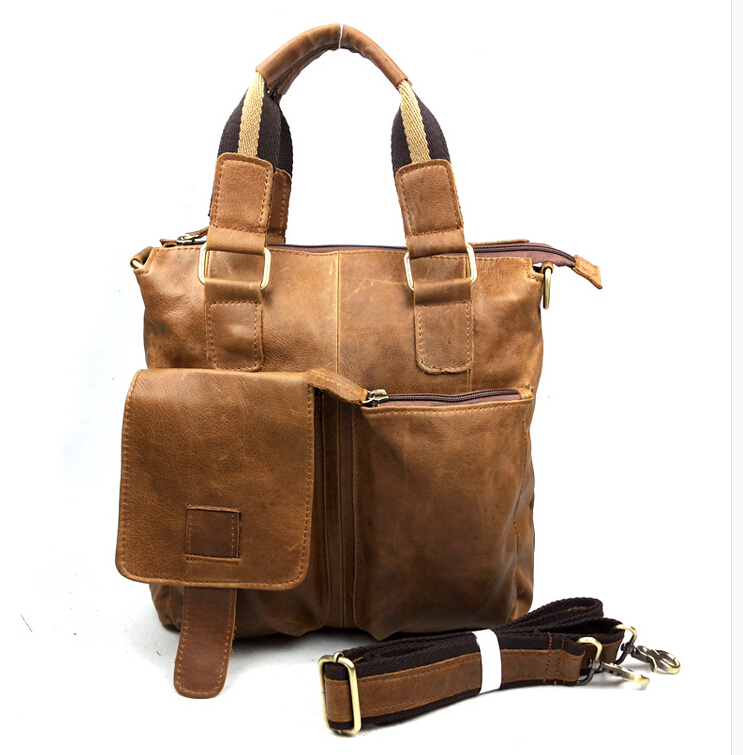 genuine leather man bag male casual shoulder handbag cross-body messener bags first layer cowhide man travel bag(China (Mainland))