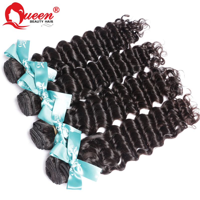 Deep Wave Peruvian Curly Virgin Hair 4Pcs Lot,100% Unprocessed Virgin Peruvian Hair,No Shedding No Tangle,Free Shipping(China (Mainland))