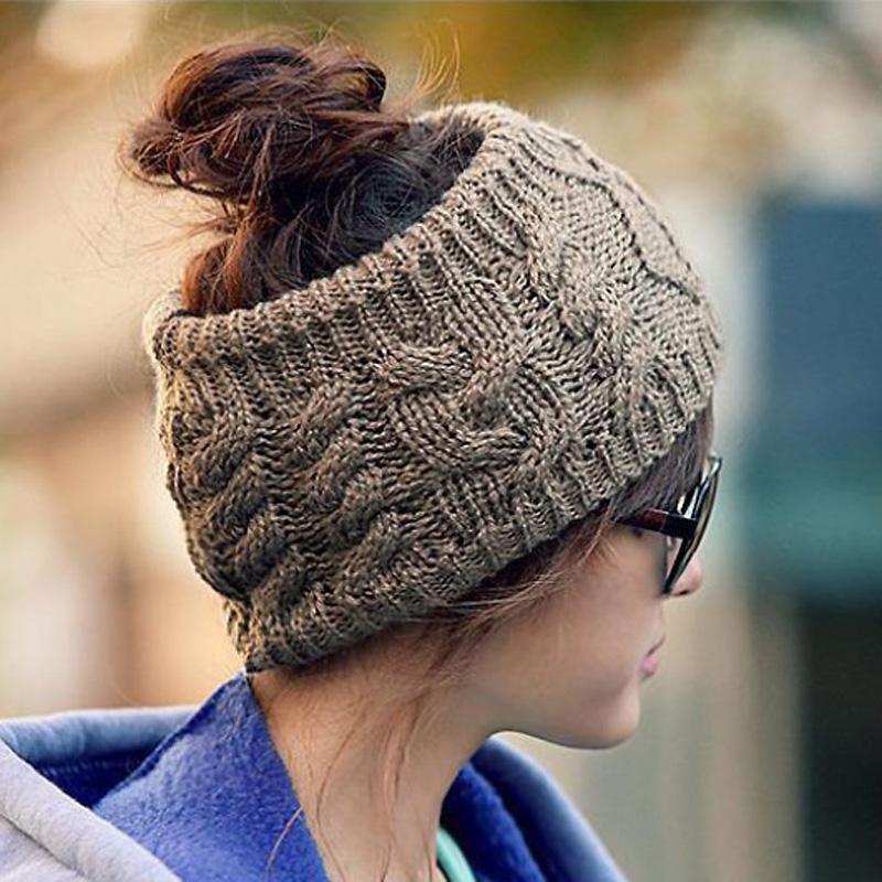 2016 Fashion Women Braided Crochet Twist Knitting Wool Winter Warm Wrap Wide Hair Band Headband Ear Warmer Cap Gifts 5Colors HotОдежда и ак�е��уары<br><br><br>Aliexpress