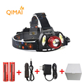 7000Lm Led lighting Head Lamp T6 2COB LED Headlamp Headlight Camping Hunting Light 2 18650 battery
