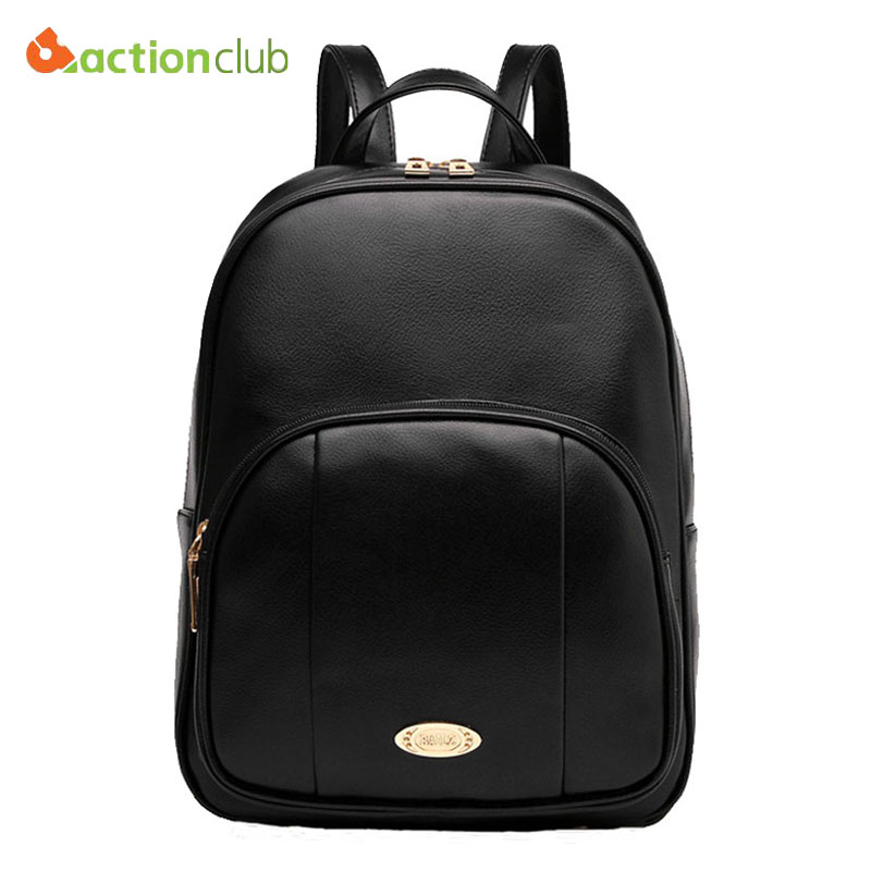 2016 New Design Women Leather Backpacks Ladies School Bags Students Backpacks Ladies Bags Women's Travel Bags Leather Bag