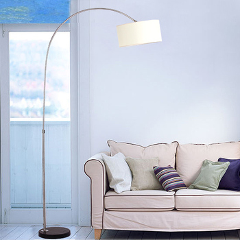 Stainless steel floor lamp living room lights mahjong lamp fishing lamp floor light