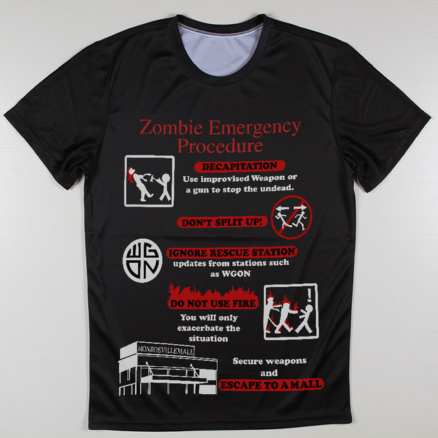 The Walking Dead T-Shirt – Zombie Emergency Procedure Graphic Tee