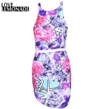 Buy Love&Lemonade Geometric Mosaic Flower Print Halter Dress Slim. TB 7368 for $29.99 in AliExpress store