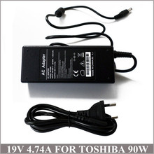 19V 4.74A 90W Laptop AC Adapter Charger For Notebook Toshiba Satellite C875-S7303 C875-S7304 C875-S7340