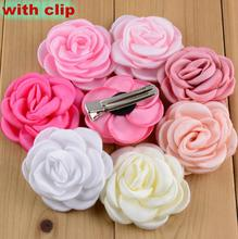 32 Colors Baby Girls Hairpins Rose Flower Hairclips Headwear Hair Accessories Kids Hair clip Girl Birthday Gift(China (Mainland))
