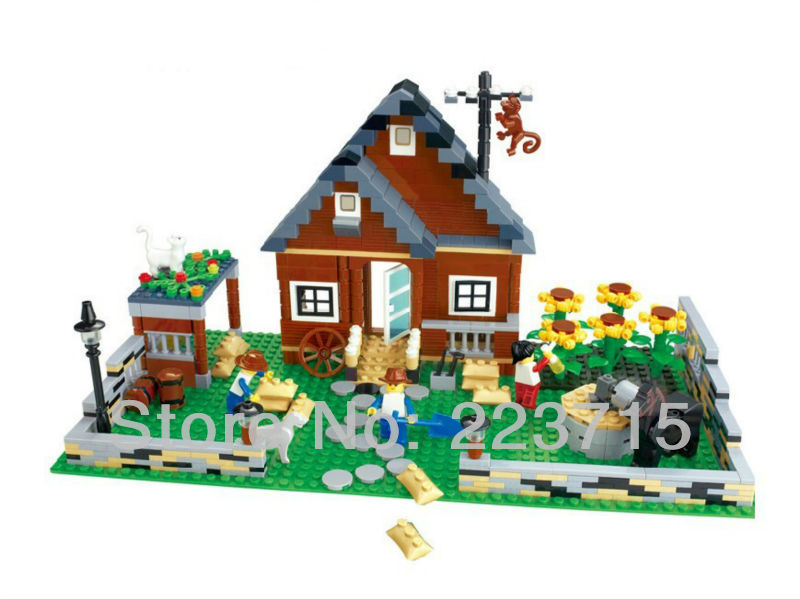 Free Shipping!*Happy Farm set 1* DIY enlighten block bricks,Compatible With other Assembles Particles(China (Mainland))