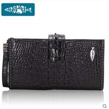 2016 new Thai YuanYu really crocodile hand bag leather wallet long money big capacity handbags men bags