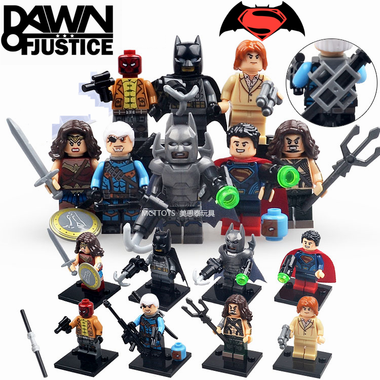 8pcs Batman vs Superman Wonder Woman Seaking Deathstroke Dawn of Justice Minifigures Super Heroes Building Blocks Kids Toys(China (Mainland))