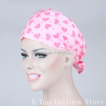 2015 Lab Coat Hospital Surgical Cap Medical Scrub Caps for Women Doctors And Nurse ,restaurant ,kitchen Working 100% Cotton B135