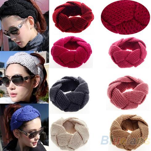 Fashion 1Pc New Crochet Twist Knitted Head Headband Winter Warmer Hair Band for Women Accessories 1DSJ(China (Mainland))
