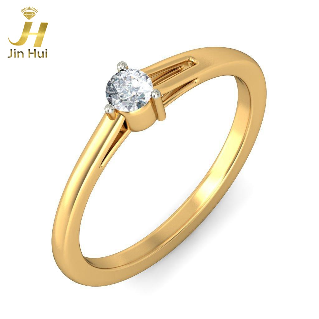 jinhui unisex the ipsa ring solid 18k yellow 750 gold 0 11ct natural diamond jewelry. Black Bedroom Furniture Sets. Home Design Ideas