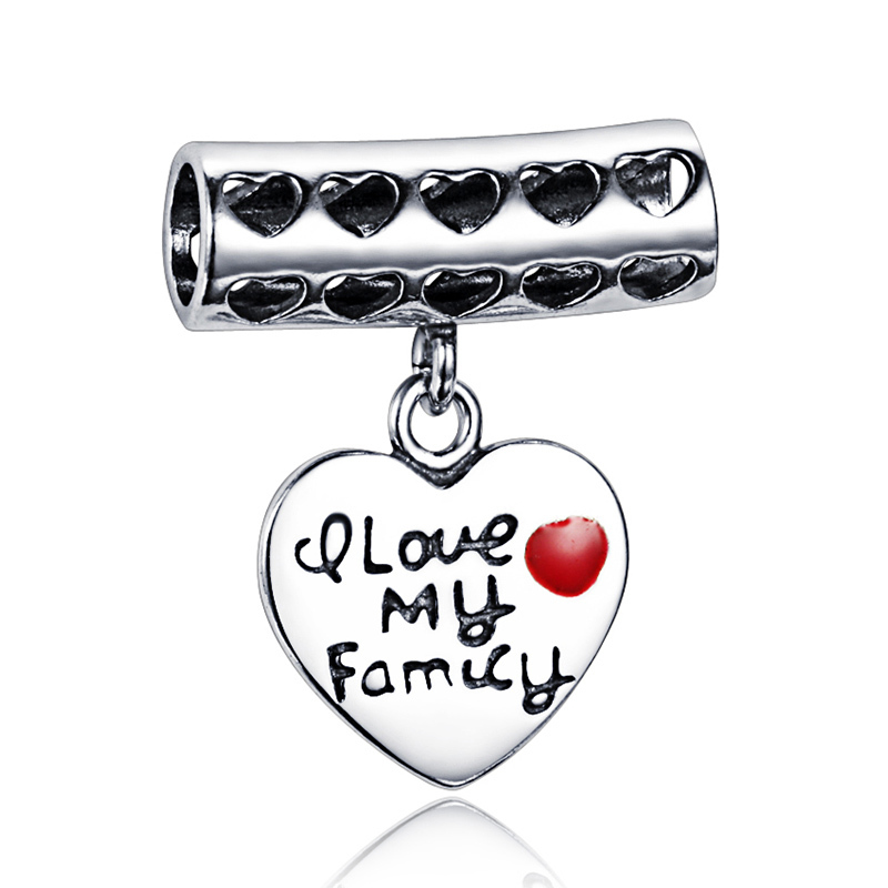 soufeel 925 sterling silver i my family charm