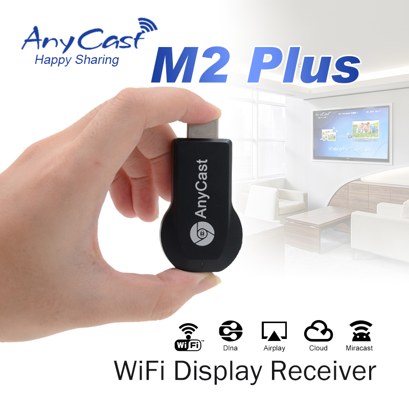HDMI AnyCast M2 Plus 1080P Wireless WiFi same screen device Miracast CPU AM8252 phone projection TV transmitter Android IOS WIND(China (Mainland))