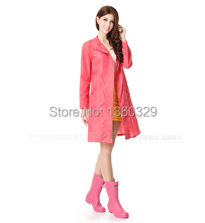 Japanese Fahion font b burberry b font quality womens Long Raincoats Pink Zipper Trench High end