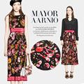 Garden 2017 new digital print Mulberry silk natural crepe DE chine fabric for dress shirt tissu