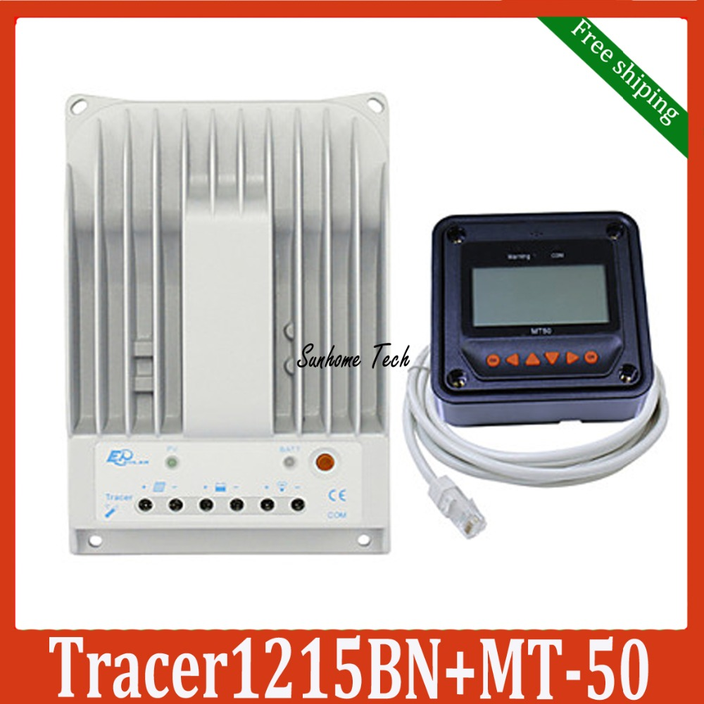 10A 12V 24V New Tracer 1215BN Programmable MPPT Solar Charge Controller with MT50 LCD Remote meter.(China (Mainland))