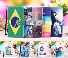 Buy 12 Patterns Zopo ZP950 case cover Colored Painting PU Leather Flip case ZOPO ZP 950 wallet phone Case Cover +Tracking for $5.99 in AliExpress store