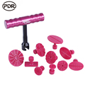 PDR Tools Kit Paintless Dent Repair Tools Dent Removal Mini Lifter Dent Puller Small Red T