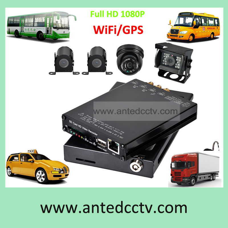 HD 1080P SD card Mobile DVR for vehicles 4 channel, H.264 school bus truck taxi boat CCTV DVR video surveillance system(China (Mainland))