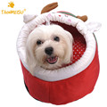 TAONMEISU Winter Warm Soft Deer Pattern Anti Slip Pet Dog House Kennel Mascotas Bed For Dogs