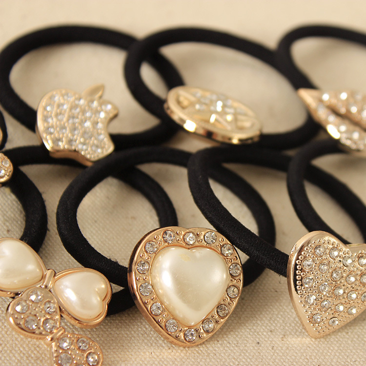 Korean Original Bow Pearls Flowers Rubber Band Casual Hair Ring for Women Headwear Hair Accessories