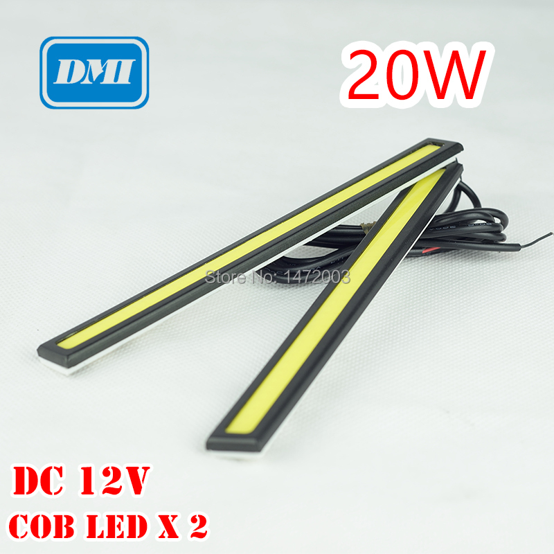 2Pcs/Set 20W Car DRL Led DC12V Bar Car Light Source Daytime Running Lights Waterproof White/Blue/ICE Bule Free Shipping(China (Mainland))