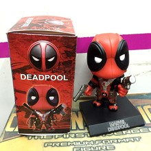 Baby toys Q Version X-men Deadpool Figure PVC shake Doll Deadpool Action Figure boy Gift Children Collectible Toy 5″ 13cm