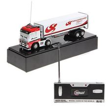Free shiping!New!Funny 1:98 Racing Container Truck with R/C Toy 2011A1-4 (White)(China (Mainland))