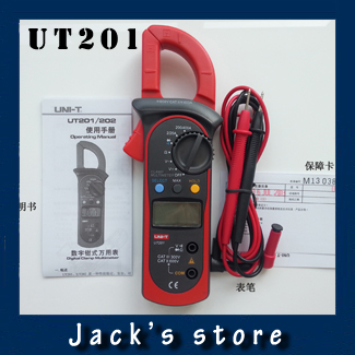 Гаджет  Freeshipping UNI-T UT201 LCD Digital Clamp Multimeter Ohm DMM DC AC Current Voltmeter None Инструменты