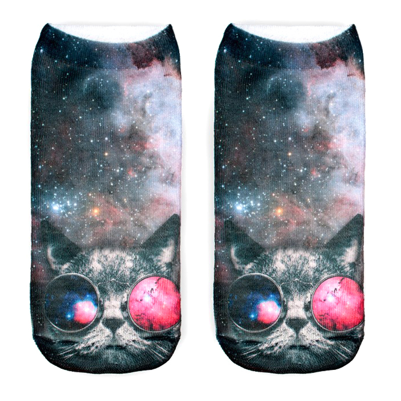 2015 Knee Sock Time-limited Rushed Freeshipping Polyester Contrast Color Meias Women Socks 3d Casual Cute Charactor Unisex(China (Mainland))