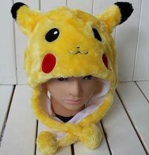 10PCS/Lot Cute Fashion Pokemon Yellow Cartoon Animal Hats Pikachu Cosplay Design Toy Great Gift(China (Mainland))