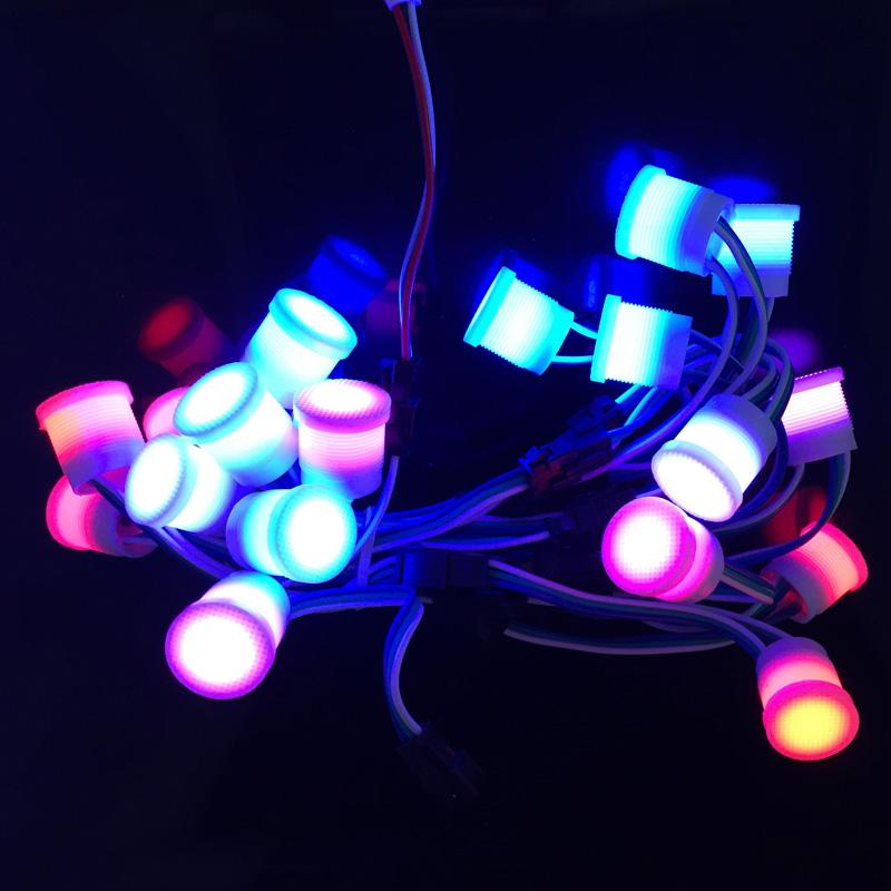 LED Lighting Modules 20pcs 12MM WS2811 Full Color Waterproof String Node Lights 5V SMD 5050 LED Pixel(China (Mainland))