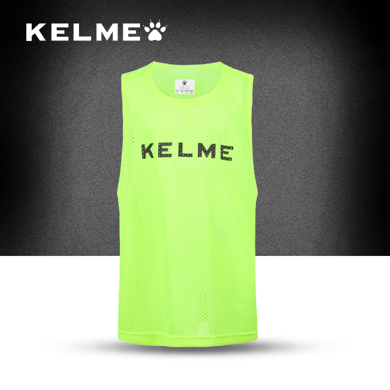 Spain Famous Brands Kelme Football team jersey mesh Breathable football training jersey Sport Sleeveless Basketball Vest(China (Mainland))