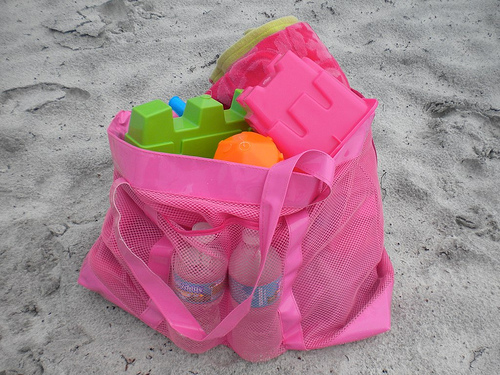 Lowest price! Free shipping extra large sand via Beach vest bag children Beach toys towel clothes baby bag diaper toy collection(China (Mainland))