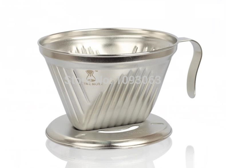 Coffee Filter Cone Stainless Steel Drip Cup Pot Maker Holder With Handle Punch Kitchen(China (Mainland))