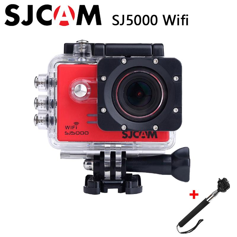 Original SJCAM SJ5000 WIFI Sport Action Camera Waterproof Novatek 96655 Full HD 1080P 14MP 170 degree wide-angle Camera+Monopod(China (Mainland))