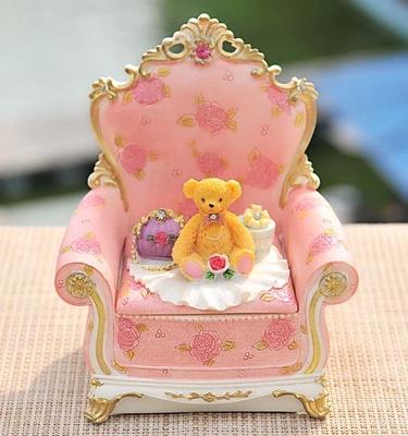 Free shipping Creative cute sofa fashion jewelry box rural princess cosmetic boxes jewelry boxes(China (Mainland))
