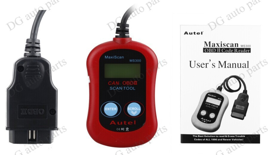 5sets/lot  MS300 Car Fault Reader Code Sanner MS300 Universal Diagnostic Tools MS300 OBD2 Car Auto Engine Code Reader  <br><br>Aliexpress
