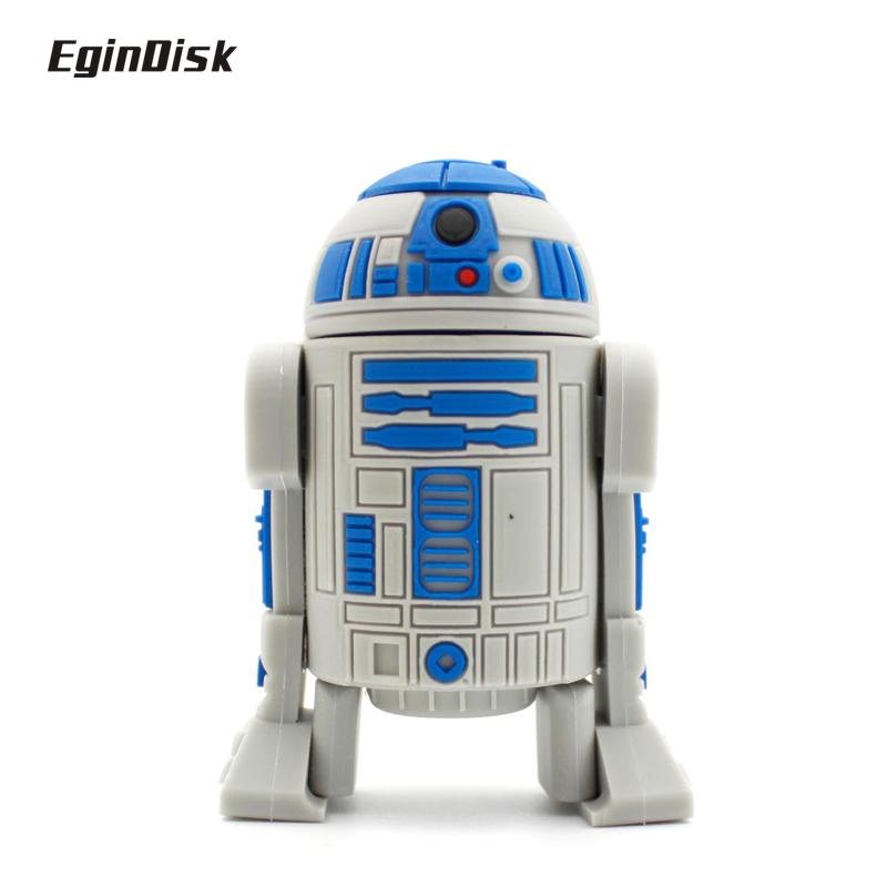 Star Wars R2d2 Pen Drive Catoon Doll Real Capacity PenDrive Anime Usb Flash Drive 8gb 16gb 32gb Disk On Key(China (Mainland))