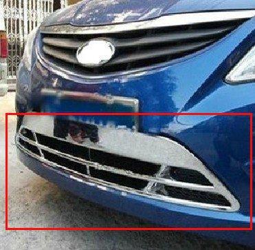 2010-2011 Hyundai VERNA/Solaris 4dr Sedan and 5dr Hatchback ABS Chrome Front Grille Around Trim Front bumper Around Trim<br><br>Aliexpress