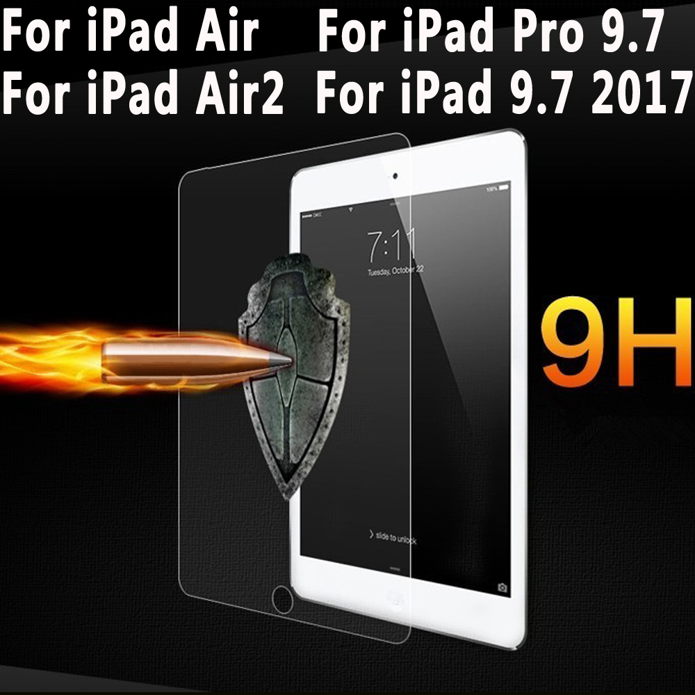 For iPad Pro 9.7 Screen Protector For iPad 9.7 2017 Tempered Glass Premium Slim Film For iPad Air 1 iPad Air 2 9.7 inch Glass(China (Mainland))